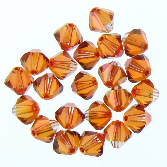 CLEARANCE: Swarovski 5328 6mm Copper Crystal (001)  Xilion Bicone Beads Whole sale price Bulk Quantity 36pcs (2548) - FREE Second Shipping
