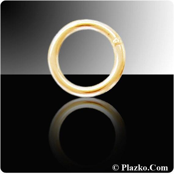 Gold Jump rings 14kt Gold Filled 22gauge 5mm Solder Closed Jump Rings - 20pcs (2767)