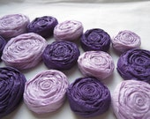 Paper Rosettes - Purple and Lavender Set of 20 - Custom Colors Available