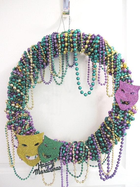 Mardi Gras on the Bayou Authentic Bead Wreath - SALE