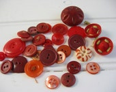 Lot of Red Vintage Buttons