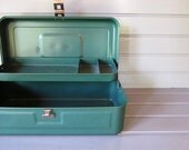 Vintage My Buddy Metal Toolbox in Turquoise Green