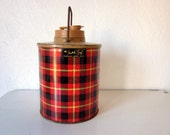 Vintage Red Plaid Scotch Jug by Hamilton, Cooler or Thermos