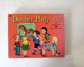 Donkey Party Game, Vintage Pin the Tail on the Donkey