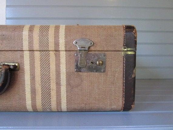 Vintage Tweed Suitcase | Luggage And Suitcases