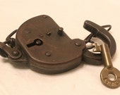 Vintage Chicago and North Western Railroad Lock and Key from 1920, C & N W RY