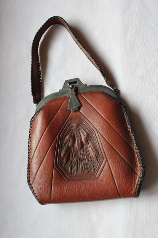 Leather Purse Volland Leather Purse Tooled Leather Purse