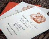 Thanksgiving Invitations vintage pumpkin or turkey