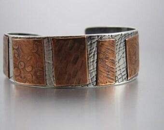 Sterling ,copper, cuff