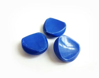 Blue Buttons, Triangle Vintage Buttons