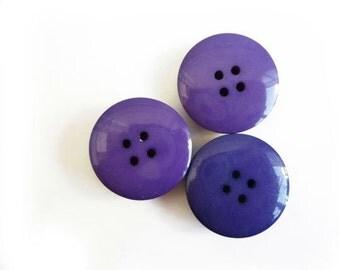 3 Purple Big Buttons
