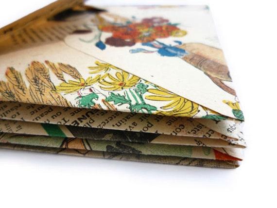Envelopes made from Vintage (1950) French Fashion Magazine (5 pcs)