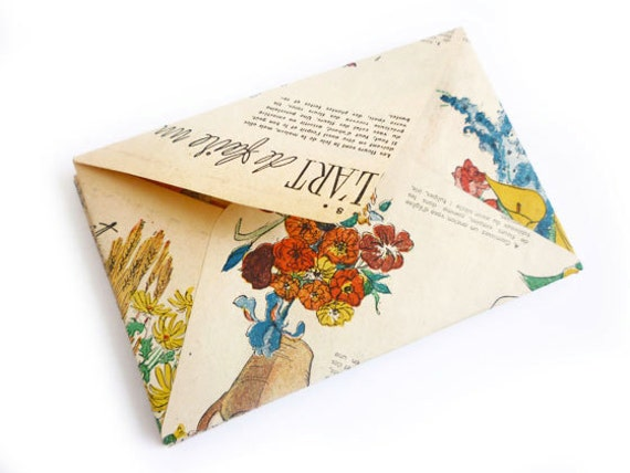 RESERVED FOR HELOISA 30 Envelopes made from Vintage (1950) French Fashion Magazine