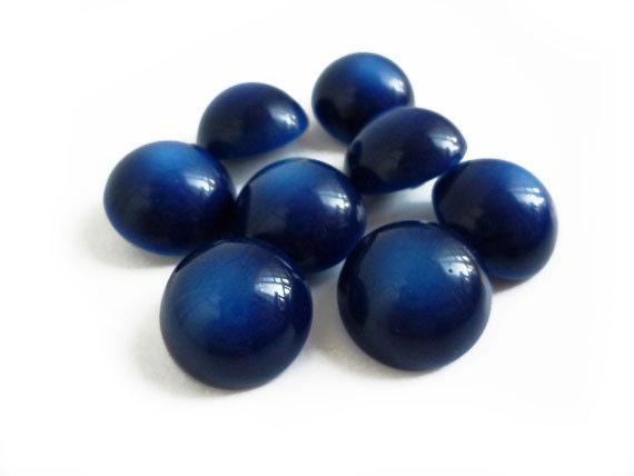 Dark Blue Vintage Buttons