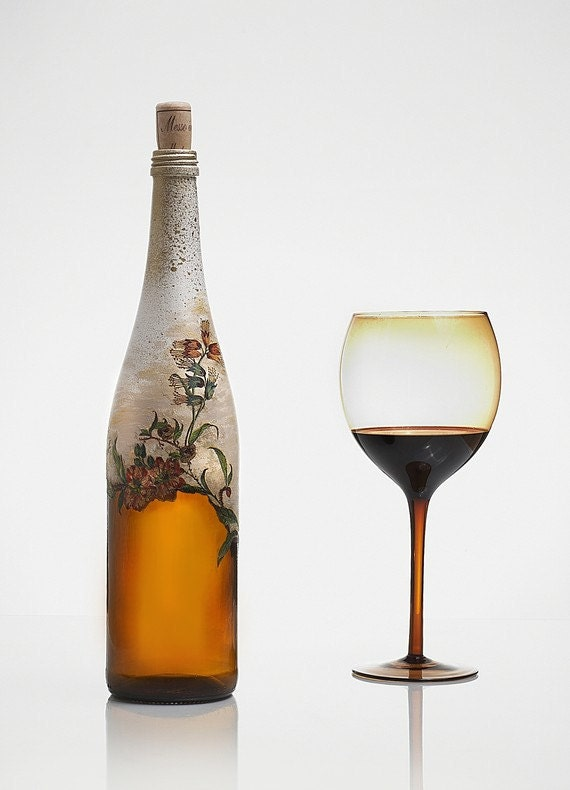 decorative glass bottle handmade gift. Black Bedroom Furniture Sets. Home Design Ideas