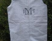 ESTIMATED SHIPPING: 7/9 PRIVATE listing for Kristen for 2 Blue & White Seersucker Jon Jon with monogram