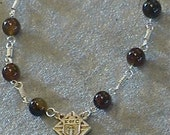 Agate Stone Bead Decade Rosary For   Knights