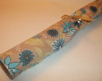 Lavender Drawer Liner Beige with Aqua Floral