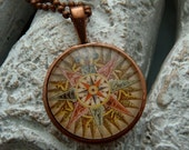Antique Compass Rose Pendant with Chain