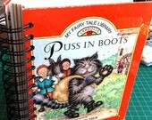 Blank Journal For Writing or Art Cute Puss In Boots Cover Great Smash Book