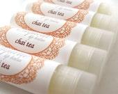 SALE!! Chai Tea Lip Balm, fall flavor lip gloss, chai spice lip balm