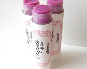 Hibiscus Lip Tint - Tinted Lip Balm - Pink Lavender