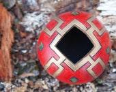 Diminutive Red Bowl - Gourd