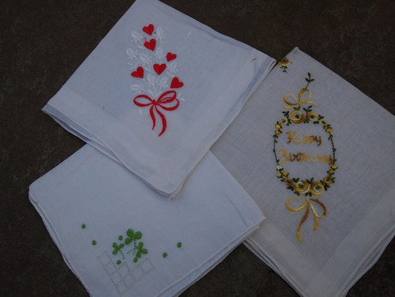 Special Day Vintage Embroidered Hankies
