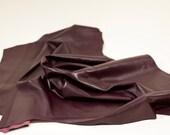 lambskin burgundy Leather hide nappa garnment quality 7 ft square feet