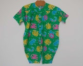 Vintage Colorful Playsuit  - Size 6 months
