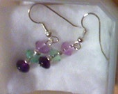 Fluorite Drop Earrings