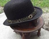Steampunk Gears Chainmaille Bowler Derby Hat