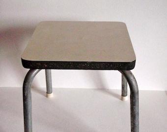Old Metal Step Stool Shop 1940s 1950s 1960s Metal Tube Legs