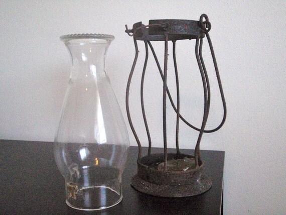 Vintage Rusty Candle Lantern