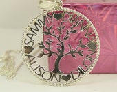 silver pendant ,family tree.1.25' size with a  chain