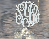 """Monogram necklace  1.75"""". With 16"""" chain"""