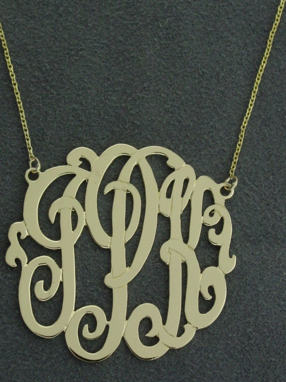 """custom for Mary  CMR 1/2"""" silver monogram. . size , with a chain 16""""."""