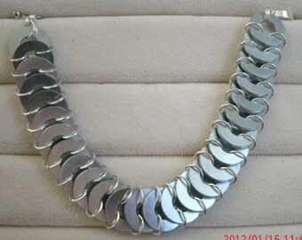 Silver Washer Chainmaille Bracelet