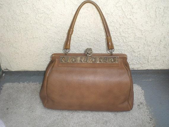 Vintage Doctor's Bag with Unique Metal Detail