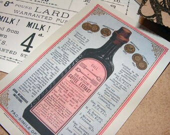19th Century Bransons Coffee Extract Antique Reproduction Print from Curious London