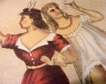19th Century Buckeye Girls Antique Tobacco Label Reproduction Print from Curious London