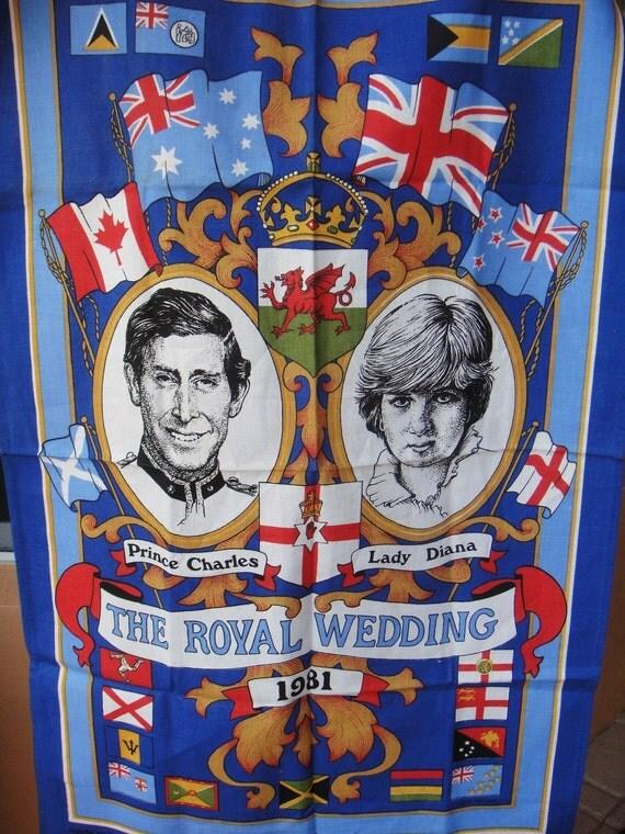 Royal Wedding 1981 Tea Towel