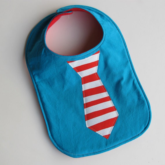 Dr. Seuss tie bib for birthday parties or everyday use