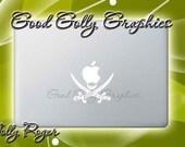 Macbook decal Jolly Roger
