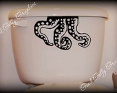 Toilet decal Octopus tentacles