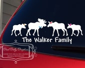 Stick family Moose family vinyl vehicle decal
