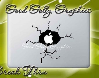 Macbook decal Apple break thru