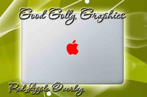 Red apple translucent color overlay THREE SIZES INCLUDED