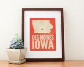 Des Moines, Iowa Love Art Print