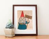 "Gnome Print, 8""x10"""